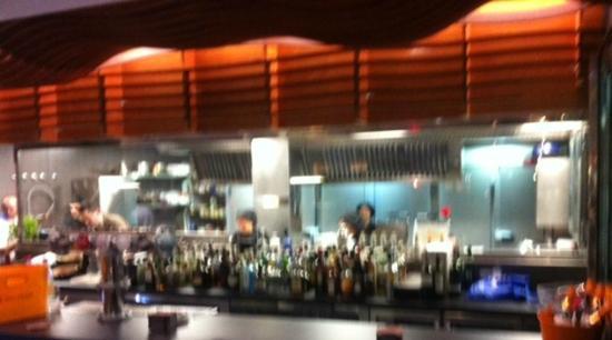 Matahambre: Open Kitchen area