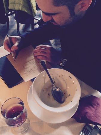 Le Mandrie di San Paolo: Era pieno.... Zuppa di cipolle
