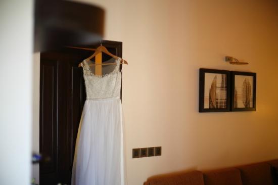Kenilworth Resort Spa Wedding Dress Hanging At The Bridal Suite