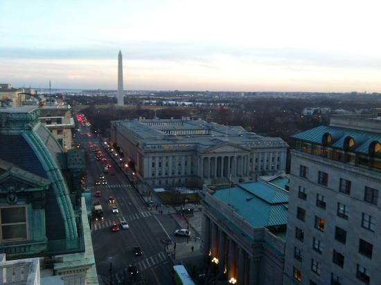 The Woodward: Rooftop view at sunset-- AMAZING!