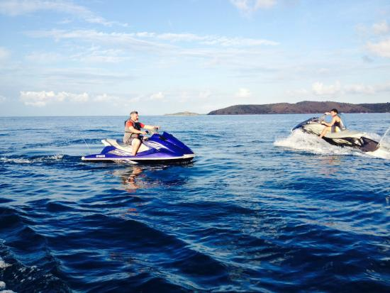 Blue Rush Water Sports And Jet Ski Rentals Inc. : Neil and Tyler in North Sound