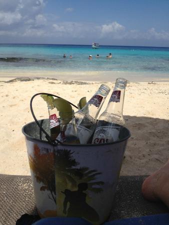 Playa Azul : Bucket of mexican beer!