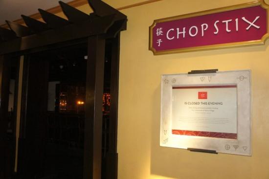 Chop Stix : опять закрыто