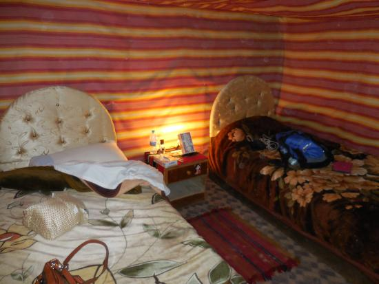 Seven Wonders Bedouin Camp : Inside our two-person tent
