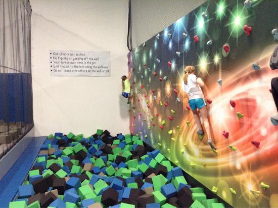 Zero gravity rock climbing