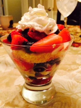 Crooked Oak Mountain Inn : Fabulous dessert