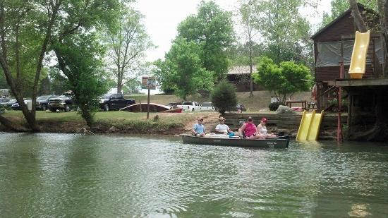 Redneck Yacht Club Canoe and Kayak Rental: Redneck Yacht Club Canoe & Kayak Rentals Campground & Cabin Rentals Launch Area