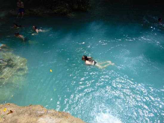 Nature at cool blue hole secret falls picture of snl jamaican tours