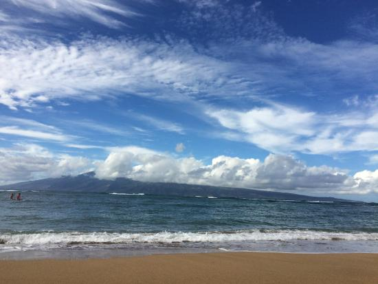 Kahana Reef : Beach out front