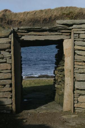 The Knap O' Howar: Doorway of Smaller House, Knap O' Howar