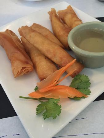 Thai Palace: Baby egg rolls done right.  Ask for spice tray if you'd like something besides the sweet water
