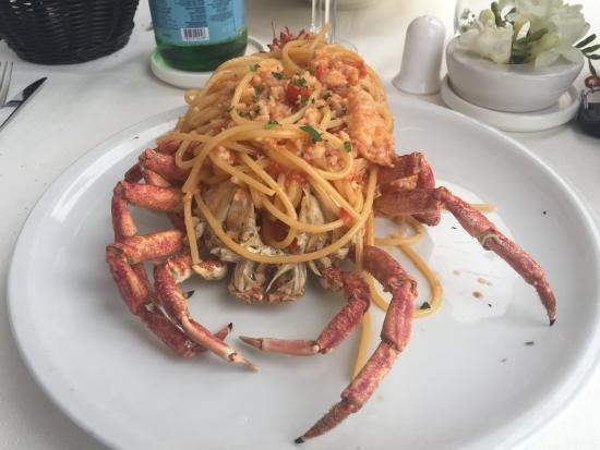 Spaghetti Alla Granseola Foto Di Terrazza Calabritto Napoli