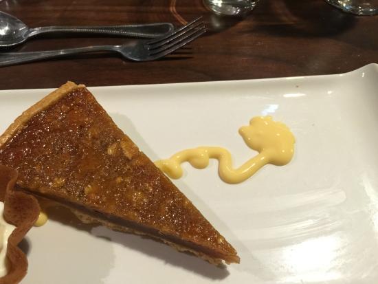Ettington Chase Hotel: Treacle Tart & Custard (look closely for the custard)
