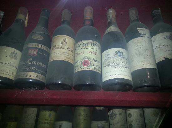 Meson del Cid: The have some really old bottles