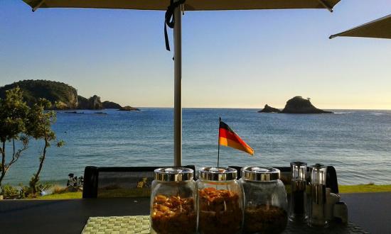 Hahei Oceanfront: Blick zum Frühstück