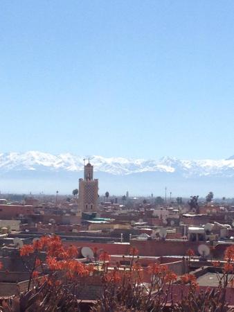 Riad Ghemza: panorama Marrakech