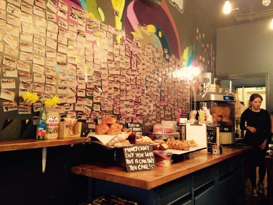 slate coffee sweet selection and regular wall card arrangement - Slate Restaurant 2015