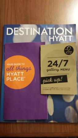 Hyatt Place Charleston Airport and Convention Center : in room menu