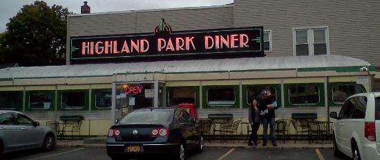 Highland Park Diner : Posing in front of the diner