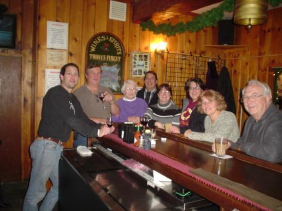 Summit Lake Lodge: friends at bat