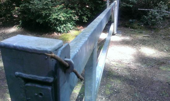 Belfair, Etat de Washington : Gate with stick