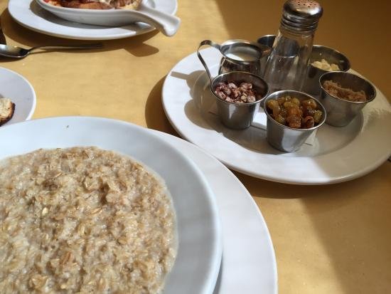 Wild Eggs: Oatmeal and a tray of add ins.  Very tasty!