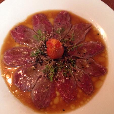 Izakaya : Beef tiradito!! Super good meat melts in your mouth