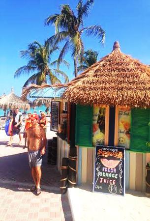 Eduardo's Beach Shack : Location :ocean view beach walk way at Playa Linda Beach Resort