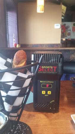 Joe Senser's Sports Grill: Pretzels and private audio box