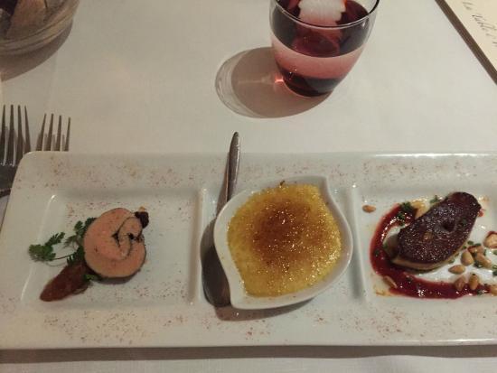 trio of foie gras photo de restaurant la table d 39 yvan. Black Bedroom Furniture Sets. Home Design Ideas