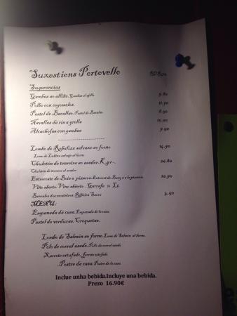 Men del d a fotograf a de portovello allariz tripadvisor - Restaurante portovello allariz ...