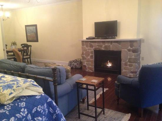 sitting area with gas fireplace picture of brafferton