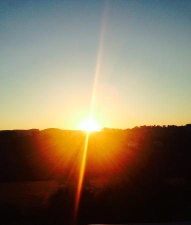 StoneTryst Villas: Sunrise from the balcony at Villa Mica