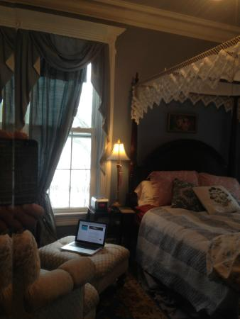 Shorecrest Bed & Breakfast: The Rose Room via armoire mirrow
