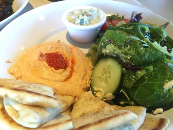 Hummus And Salad Platter Picture Of Zoes Kitchen Fairfax