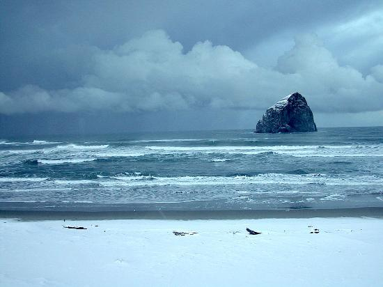 Bob Straub State Park: Pacific City in winter