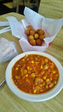 Tommy's Barbecue: Brunswick Stew served in colder months, hot hushpuppies year round!