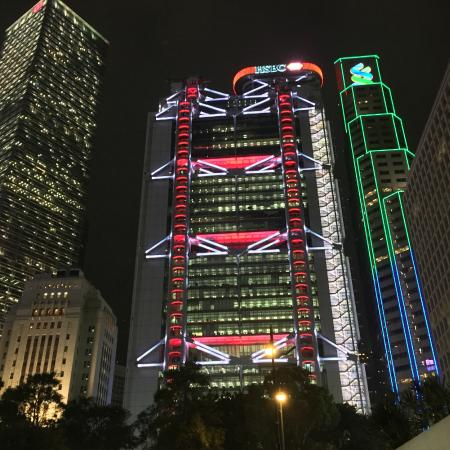 Hsbc main building at night picture of hsbc main building hong kong tripadvisor - Hsbc hong kong office address ...