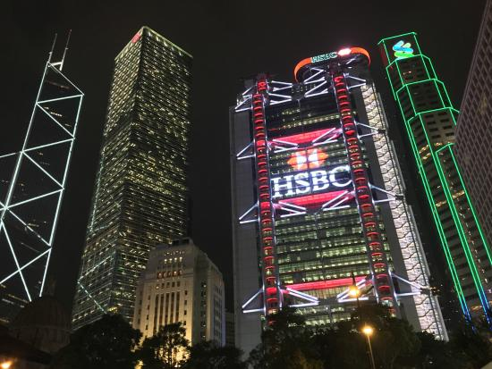 Вид от порта Picture Of Hsbc Main Building Hong Kong