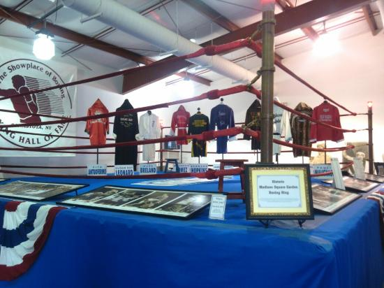 International Boxing Hall of Fame: The ring from Madison Square Garden.
