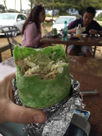 Kilauea Fish Market : Ahi tuna wrap, the thing they are most known for.