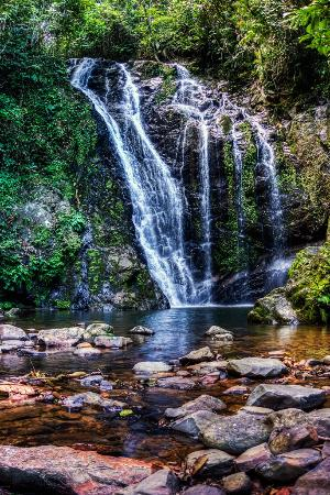 Tawau, Malasia: The waterfall during a normal season.