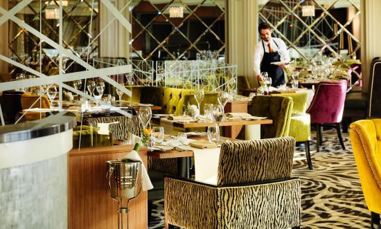 Killyhevlin Lakeside Hotel and Chalets serves breakfast in Kove Restaurant