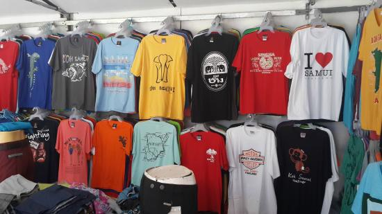koh samui t shirts - Picture of Soma T-shirts Shop, Lamai Beach ...