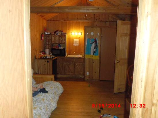 White Pines Campsites: inside cabin 1
