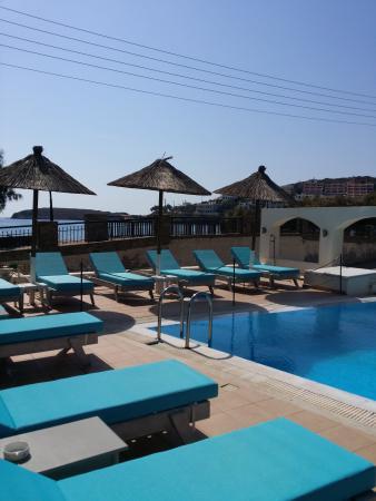 Hotel Chryssi Akti: pool sunchairs