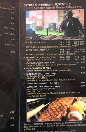 Territet, สวิตเซอร์แลนด์: Beef, carnes,viandes au grill