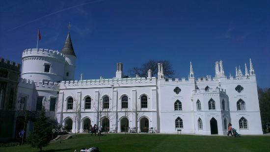 Strawberry Hill House: viewed from the garden