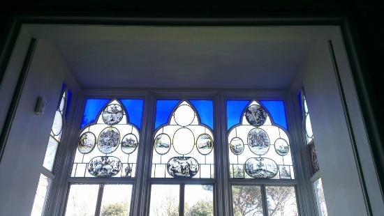 Strawberry Hill House: hand painted windows