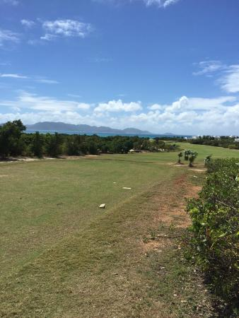 CuisinArt Golf Club: View of St Maarten in background - pretty typical of course conditions